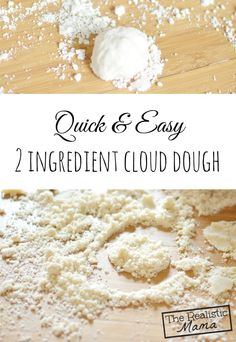 Wondering what cloud dough is? Great sensory learning through play. Loved this, was better than play dough!