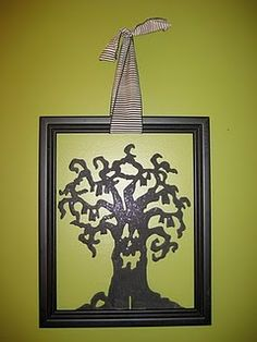 totally gonna make this.. the little tree is at the dollar store and you could find a frame at a thrift store.  so cute!