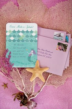 Mermaid party printables from One Charming Party