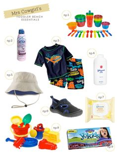 Toddler Beach Essentials. Forgetting one of these can mean the difference between a good trip to the beach and a bad one!