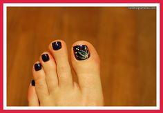 toe nail art designs rhinestones
