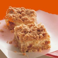 I would try these Rhubarb Cheesecake Squares with Raspberry instead. Yum!