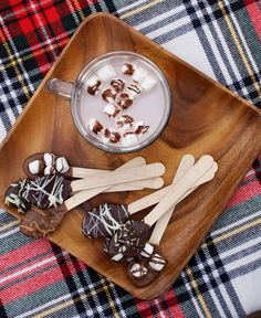 Hot chocolate spoons - perfect for individual portions and pretty to display