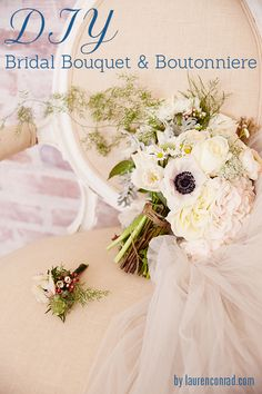 Wedding Bells: DIY Bridal Bouquet and Boutonnière from LaurenConrad.com