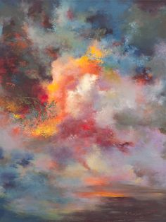 artists, acrylic paintings, abstract art, color, sunsets