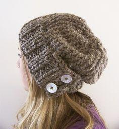 fashion, style, pattern, button, crochet, knitted hats, knit hats, chunky knits, winter hats