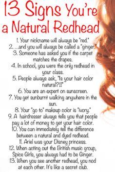 Being a redhead. I e