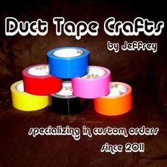Duct Tape Crafts by Jeffrey | The Treehouse Illustrator Blog