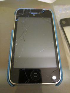 replacing cracked iPhone screen
