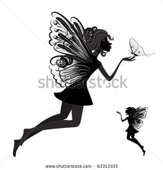 http://www.shutterstock.com/pic-63313333/stock-vector-silhouette-of-a-fairy-with-butterfly.html