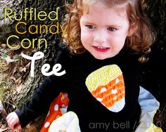 ruffled candy corn tee