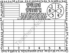 Spelling Spinners FREEBIE! from O-H So Blessed on TeachersNotebook.com -  (2 pages)  - a great game for practicing spelling words!