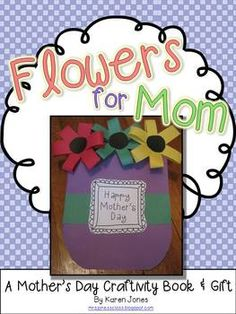 Mother's Day craftivity book & gift...moms will LOVE this! $