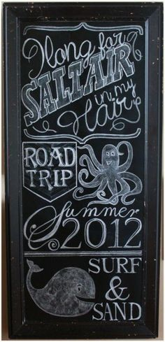 Summer Chalk Board ARt