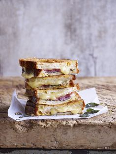 Fontina, proscuitto and sage stuffed toast