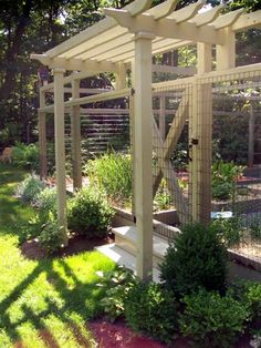 Garden Pergola - Teich Garden Systems (TGS) custom designs and installs state-of-the-art animal-resistant outdoor sustainable garden systems...