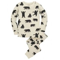 Black Bears on Natural Kids' Pajama Set http://www.hatleystore.com/en_us/black-bears-on-natural-kids-pajama-set.html 35USD