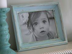 Cottage blue distressed 8x10 frame
