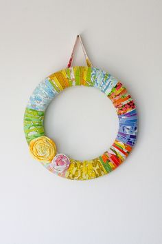 Vintage Sheet Wrapped Wreath