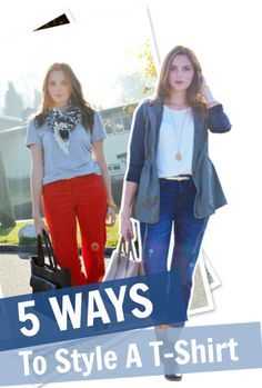 5 ways to style a basic tee