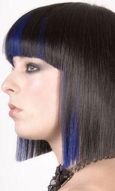funki hairstyl, crazi hairstyl, black hair, medium length hairstyles, hairstyl trend, blue hair, beauti, bangs, blunt bob