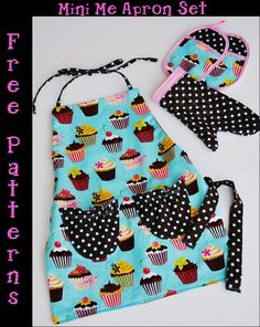 Free Pattern:  Mini Me Apron Set