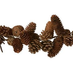 pinecone garland at Terrain via Design*Sponge