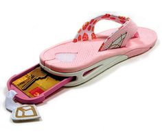 Reef Stash sandals. For vacation, room key!!! How cool is this?!! Genius but needs to be cuter flip flops.