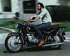 I may not agree with everything he did, but Steve Jobs certainly was a visionary entrepreneur and a groundbreaking designer, especially in his second act.  Seen here on his BMW R60/2 in the late 70's.