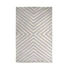 Modern Area Rugs | Grey and Natural Bridget Indian Kilim Flat Weave Rug | Jonathan Adler