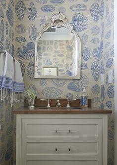 blue and white wallpaper ~ Lynn Morgan design