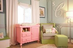 A Pink, Green & Glam Nursery Little Crown Interiors