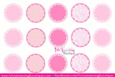 CrafTABulous: Editable 4x6 Pink (Breast Cancer Awareness) Bottle Cap Image Sheet.