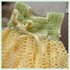 Baby Spring Dress, Crochet Butterfly Dress, Baby Pineapple Dress, Crochet Baby Dress, Baby Dress
