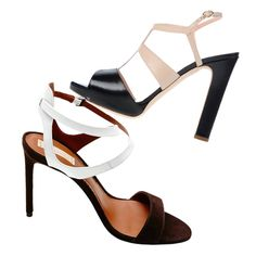 Shop sales like an editor with these FAB finds! - Color-block sandal - From top: Rupert Sanderson, $279 (originally $930); thecorner.com; Reed Krakoff, $239 (originally $595); theline.com - #InStyle