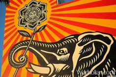 Street Artist Shepard Fairey - West Hollywood Library.