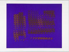 Josef Albers, Untitled (brown on purple), 1972, Harvard Art Museums/Fogg Museum.