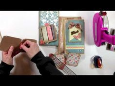 ▶ Vertical Paper Bag Mini Album Series Part 4 - Photo Mats - YouTube