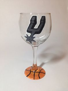 San Antonio Spurs Wine Glass on Etsy, $24.00 #texas #basketball #FelicitouslyMade