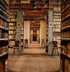 Library of the Franckesche Stiftungen, Halle, Germany, refurbished to look as it did in 1746