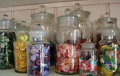 Apothecary button jars