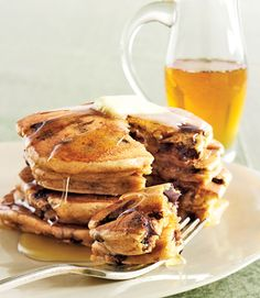 Peanut Butter and Chocolate Chip Pancakes