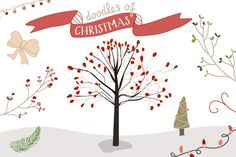 Illustrations ~ Christmas Doodles by Angie Makes ~ Creative Market