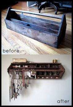 well duh! what a great idea. Toolbox to jewelry organizer