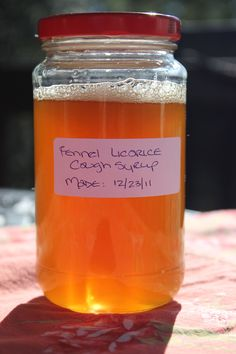 Fennel Cough Syrup.