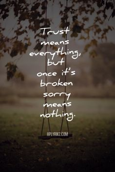 That is true. Trust is like a piece of paper, once you crumbled it, it will never be perfect again.