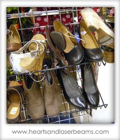 thrift store shoes are the only shoes.