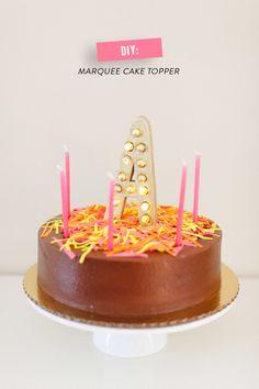 DIY Light-Up Cake Topper! So cute, so easy.