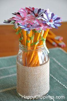 Pencil Flowers Teacher Gift
