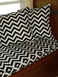 custom bench pads with cool fabrics via Etsy.